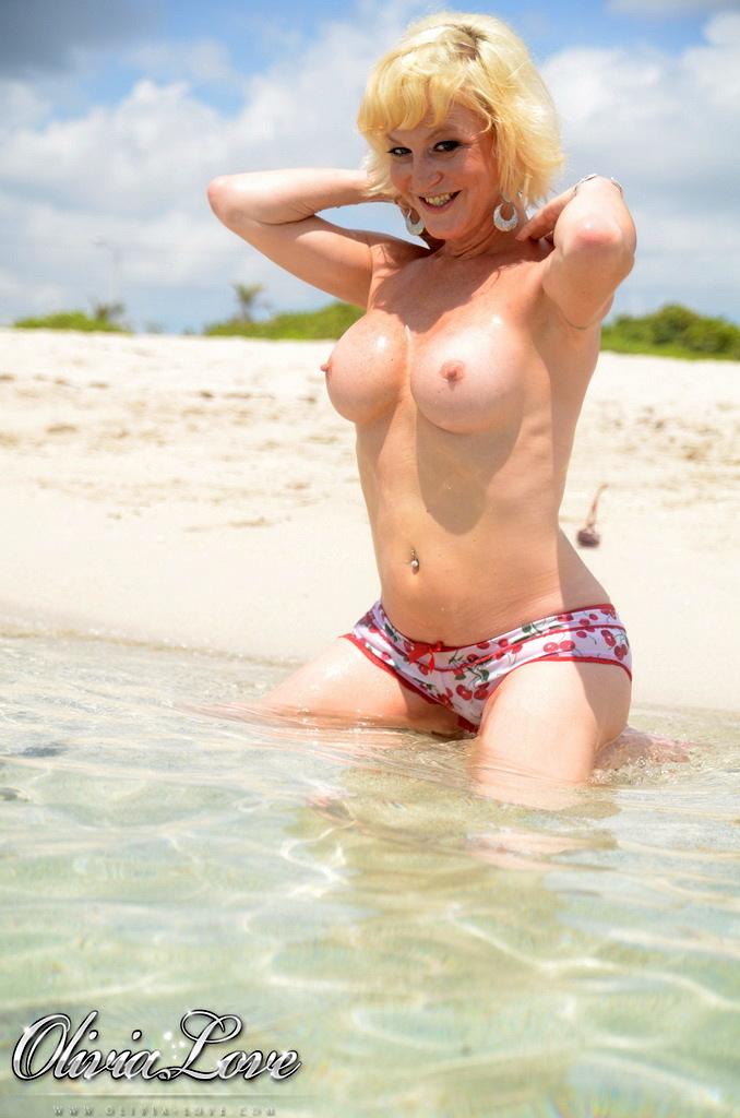 Amazing TS Olivia Love Posing At The Beach