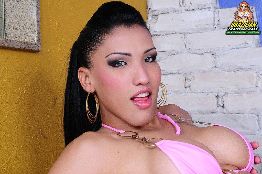 Brazilian Tgirl Babe Toys Ass!