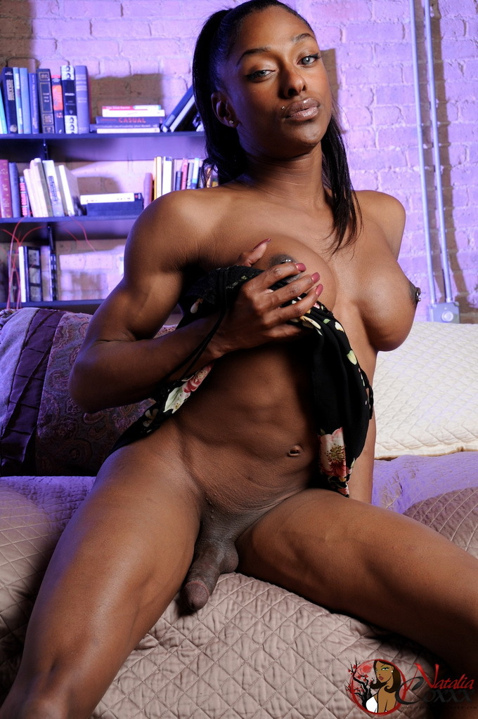 Chocolate Natalia Pumping Her Cock