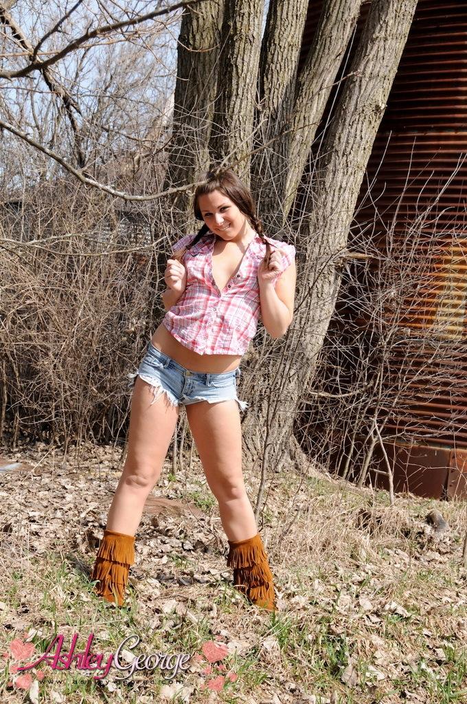 Countryside Teenage Femboy Posing Outdoors