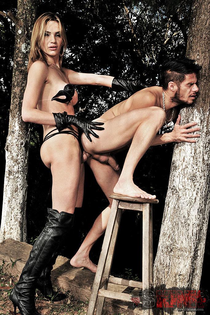 Femboy Dominatrix Punishes Her Slave