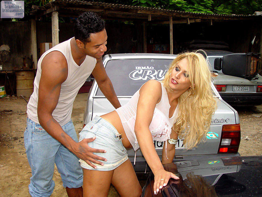 Domy And Rodrigo. Rodrigo Picks Up This Busty TGirl Off The