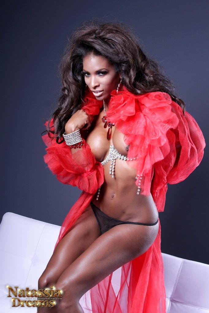 Ebony Natassia Toys Her Bum