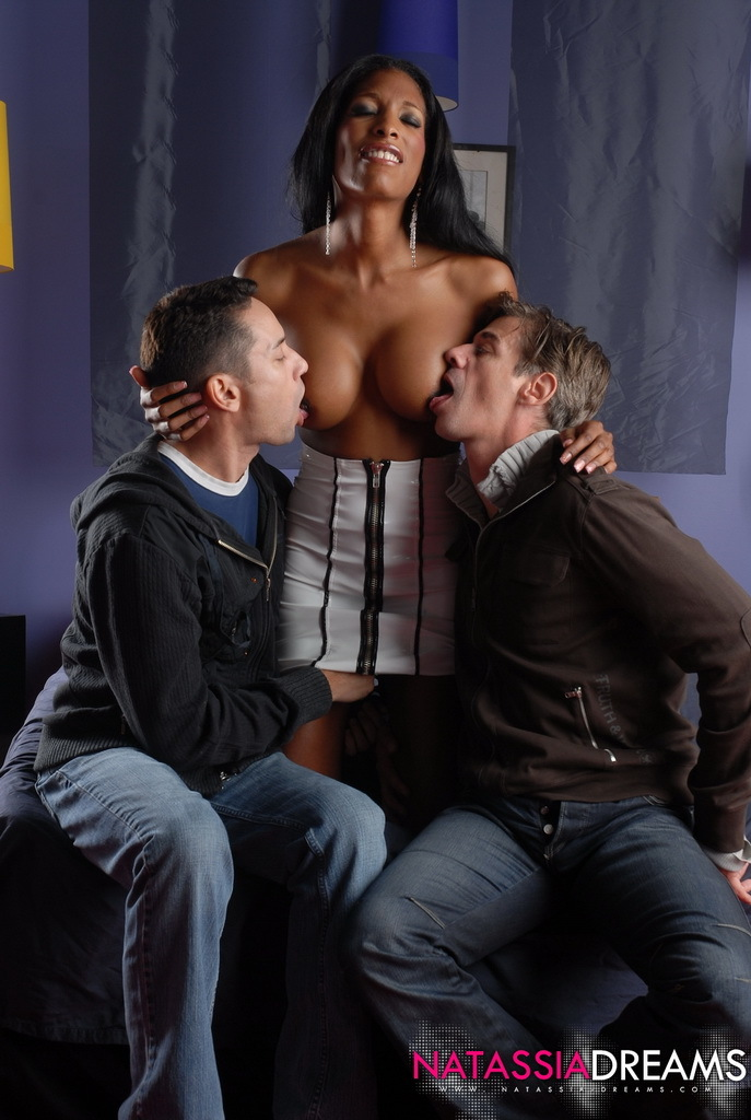 Ebony Sweetheart Natassia Fantasies In A Sensual Interracial Threes