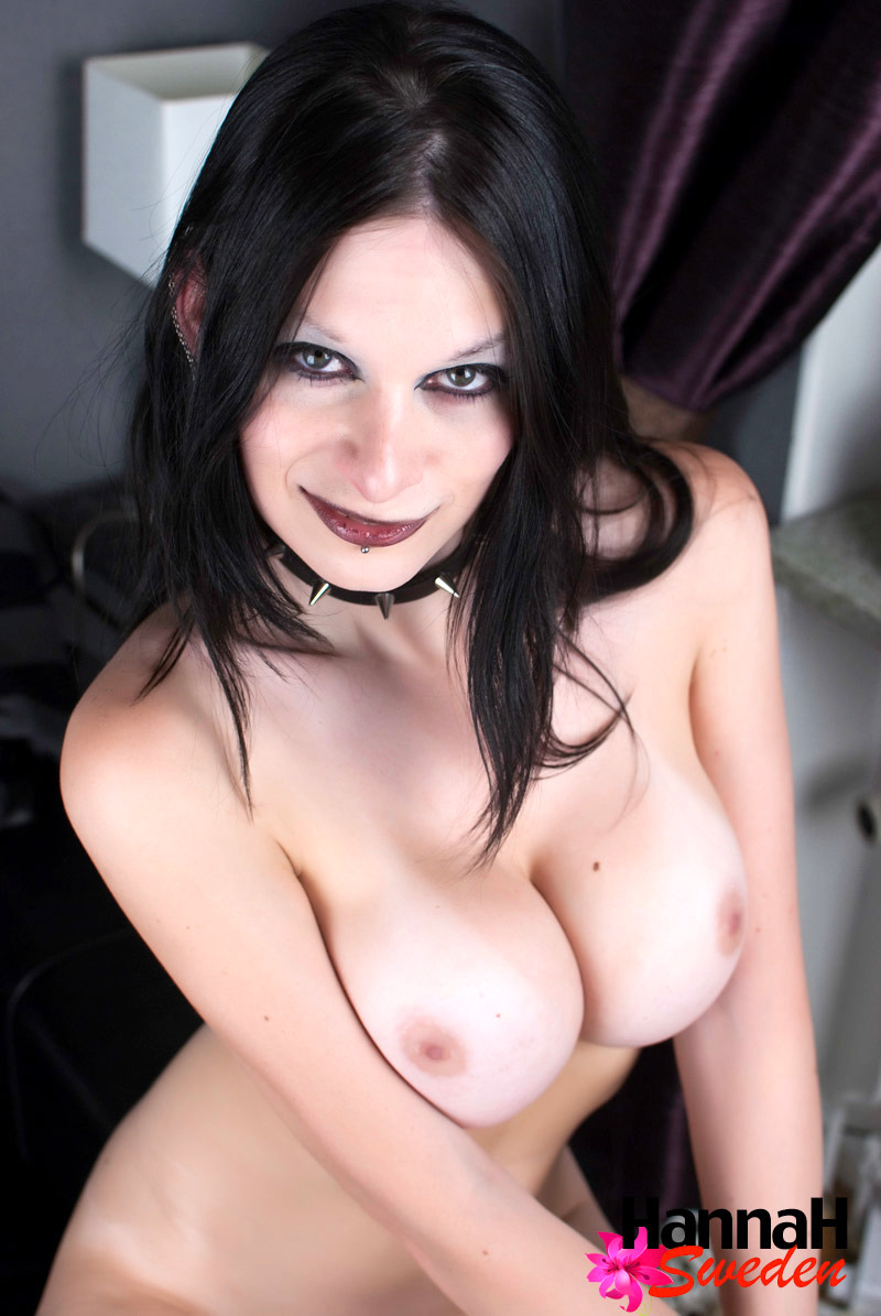Femboy Hannah Sweden Naked In Fishnets And Showing Her Shec
