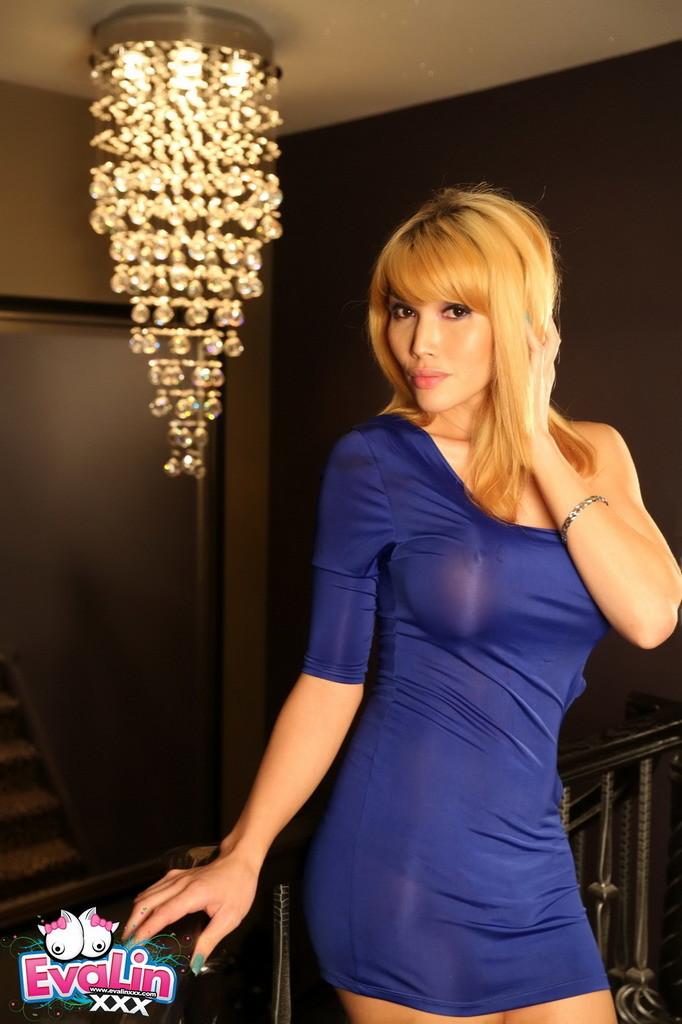 Gorgeous Eva Posing In A Skirt