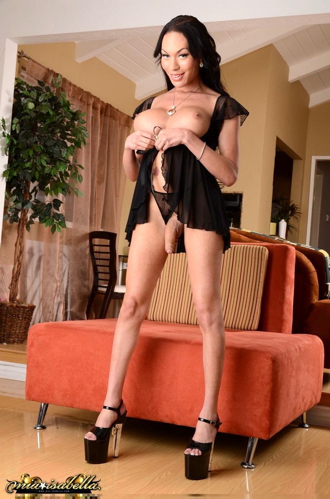 Gorgeous Transexual Mia Posing Her Awesome Body