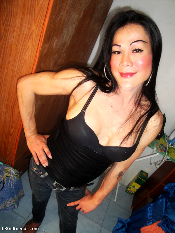 Homemade Photos Of TGirl Ann Wearing Too Much Blush