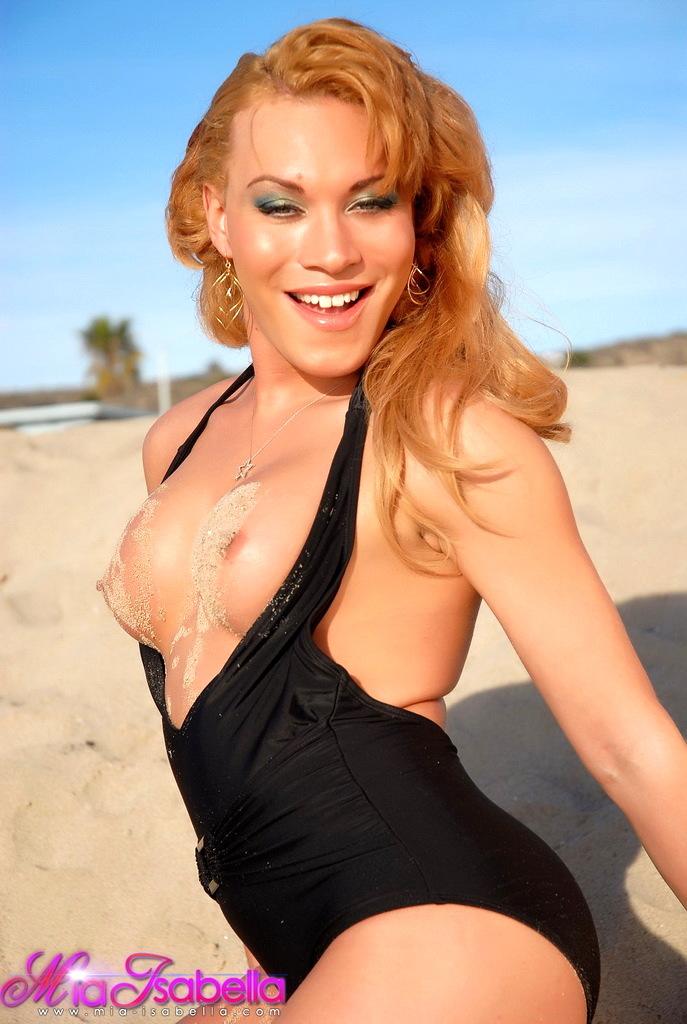 Irresistible Mia Isabella Posing Inviting Outdoors