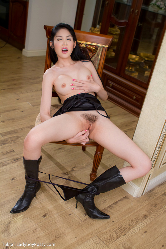 Long Leg Post Op Tukta In Black Boots And Nasty Black Skirt