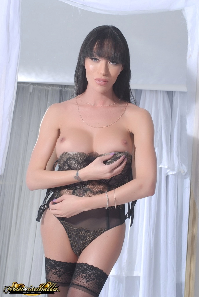 Massive Tit Mia Strips By The Mirror