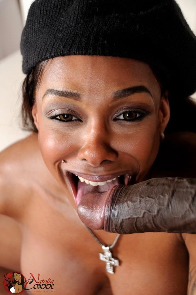 Natalia Sucking Enormous Black Cocks