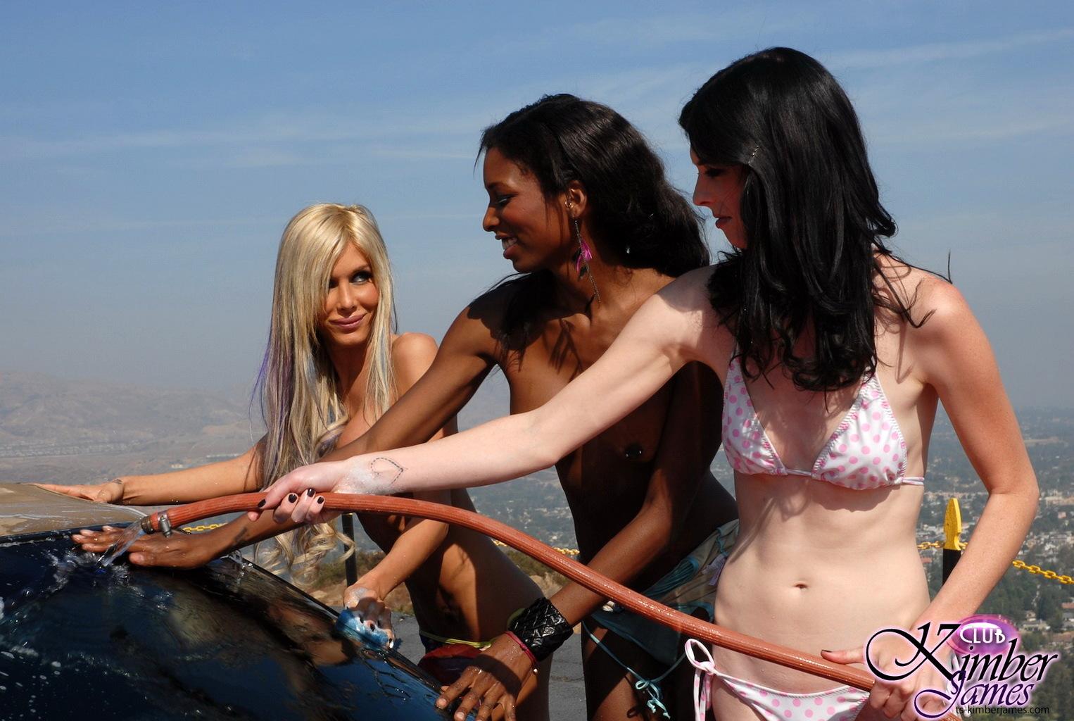 Nice Hottie Kimber James In Inviting Carwash Photoshoot