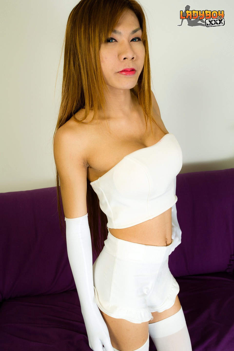 Pink Is TGirl From Outside Bangkok. Shes 20 Years Old, Doe