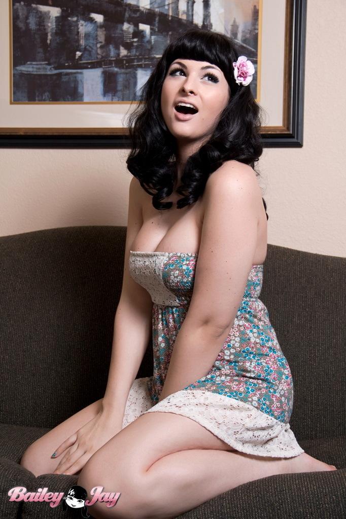 Splendid Bailey Exposing Her Nice Dick Breasts