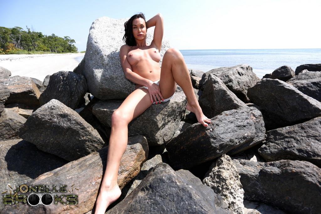 Suggestive Jonelle Strips On The Rocks