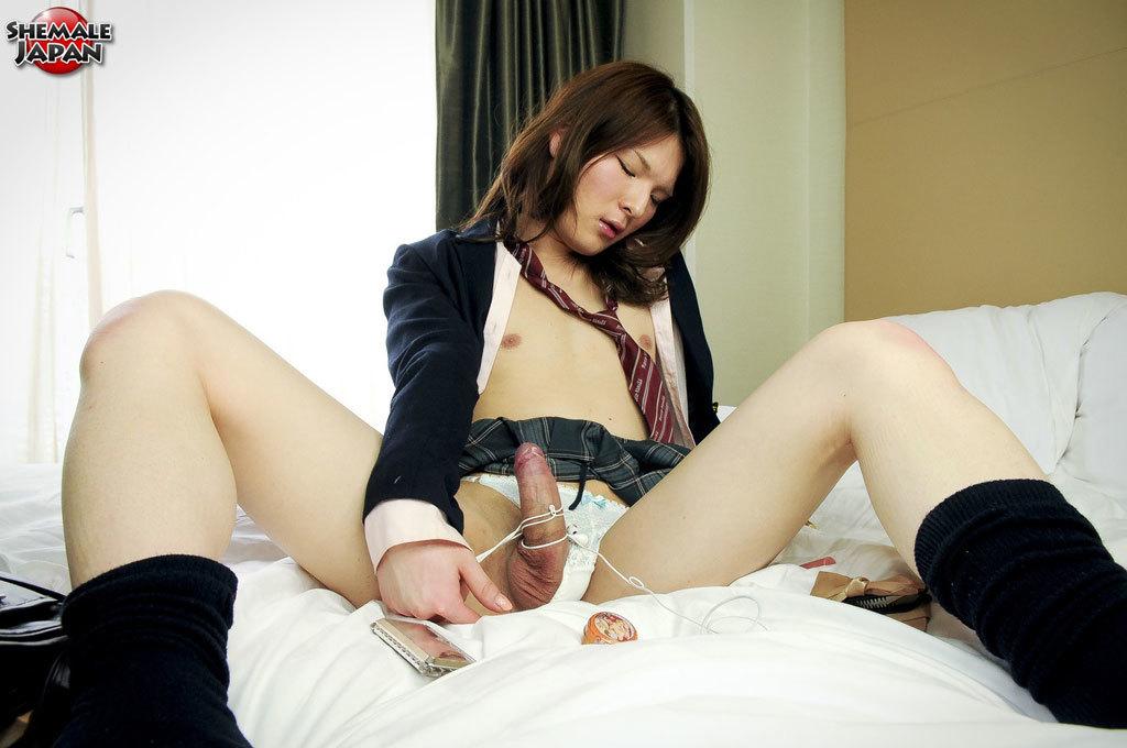 Shy Newhalf Kaoru Shirashi Is Dressed As A Starved School Girl