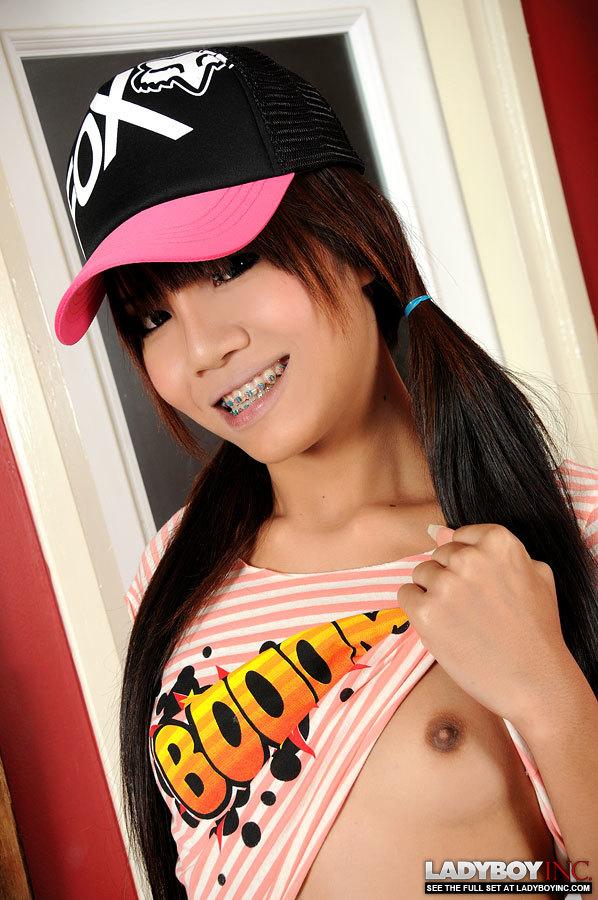 Sweet Teen Tgirl With Braces