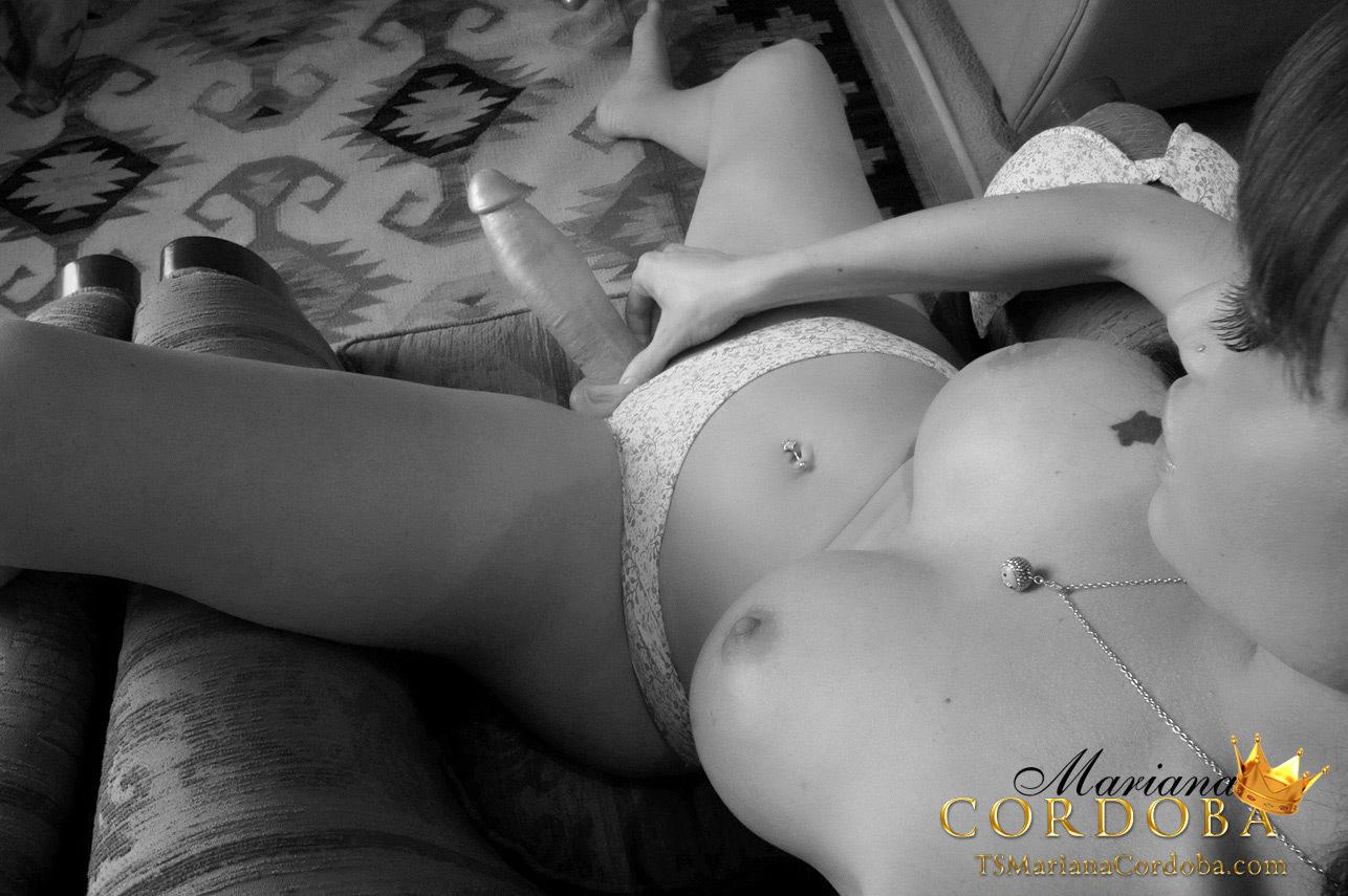 Tasty Treat TGirl Mariana Cordoba Grabs That Huge Sheco