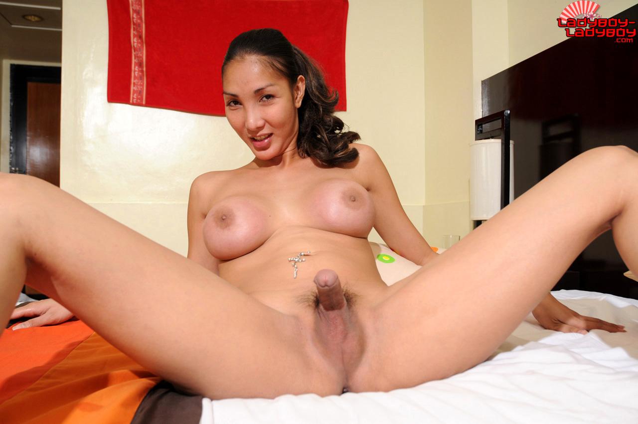 TGirl Khei Has Round Perky Breasts.
