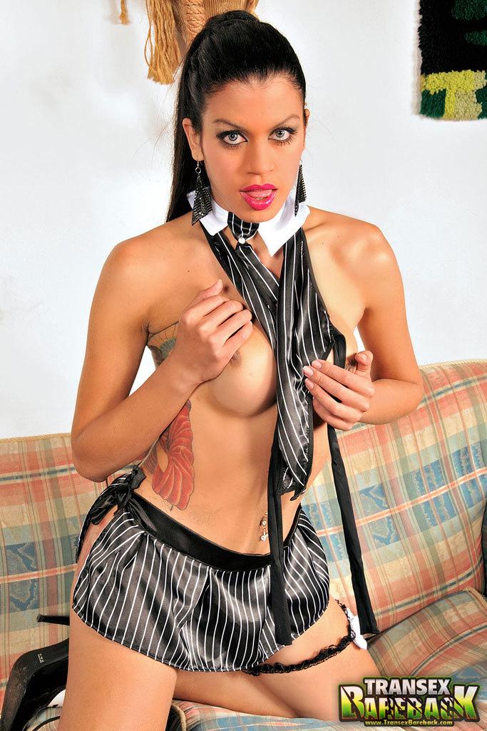 TS Cutie Brenda Lohan In No Condom Action
