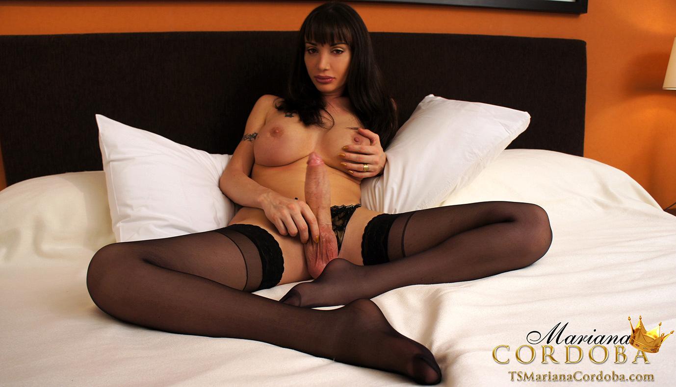 Flirtatious Mariana Cordoba Showing Her Massive Breasts