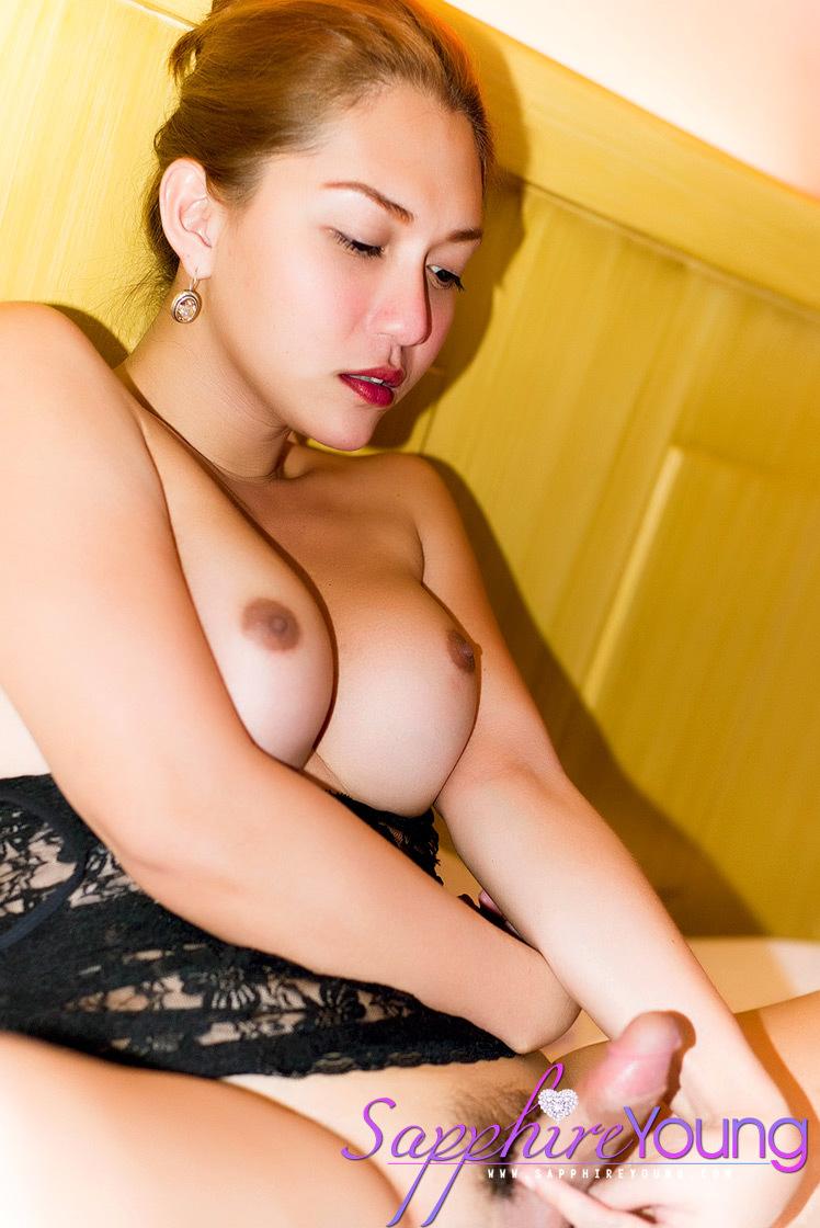 Very Feminine Thai Ladyboy Fully Erect
